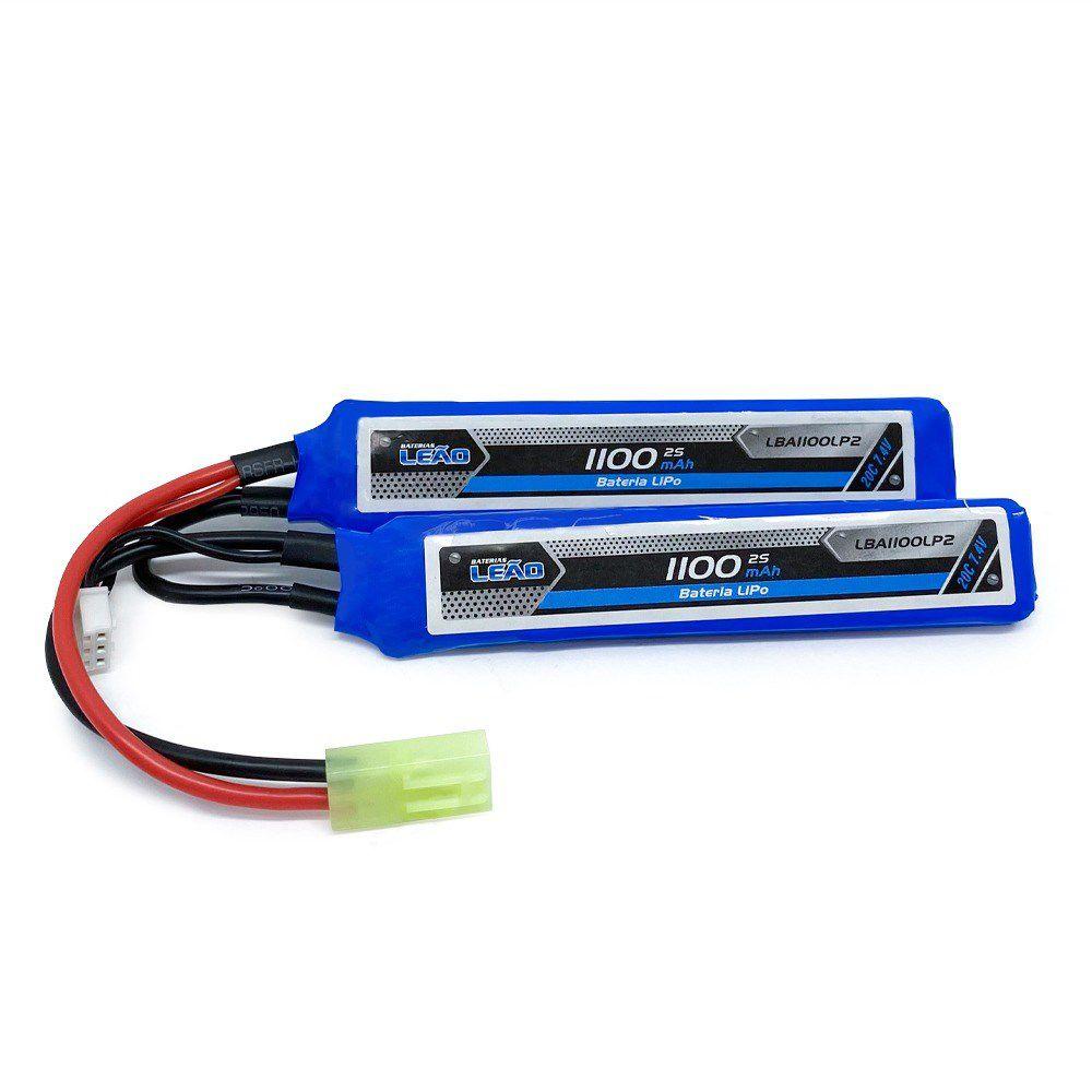 Bateria Lipo - 7.4V/2S (2 pack) - 1100mAh - 20C - LM
