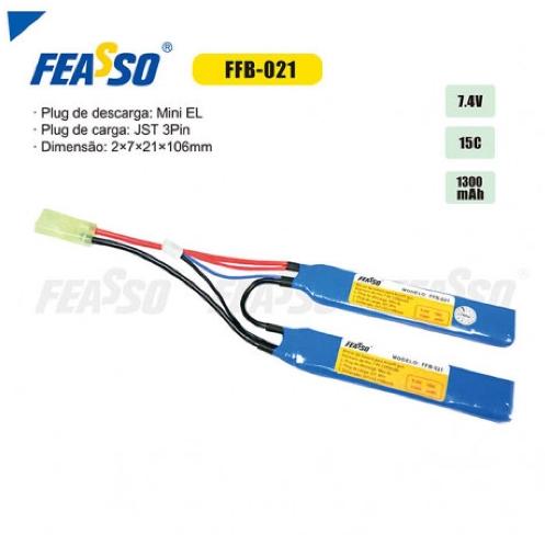 Bateria Lipo - 7.4V/2S (2 Pack) - 1300mAh - 15C - FFB-021 - Feasso