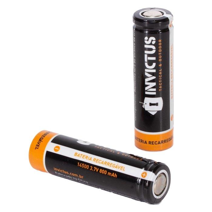 Bateria Recarregável 14500 - Invictus (PAR)