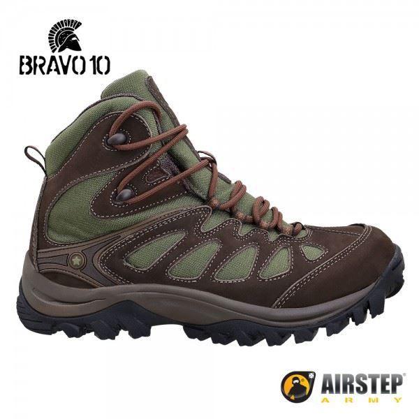 Bota Airstep Hiking Bravo 10 5700 - Brown Green