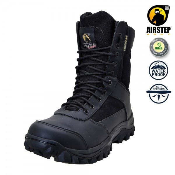 Bota Tática Militar Airstep 8625 - Black - Antiperfurante