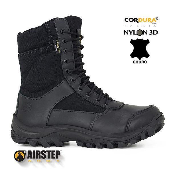 Bota Tática Militar Airstep 8627 Confort - Black
