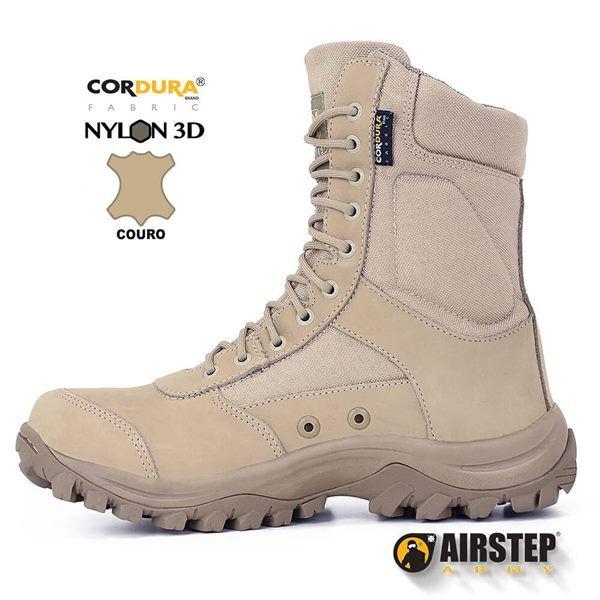 Bota Tática Militar Airstep 8627 Confort - TAN