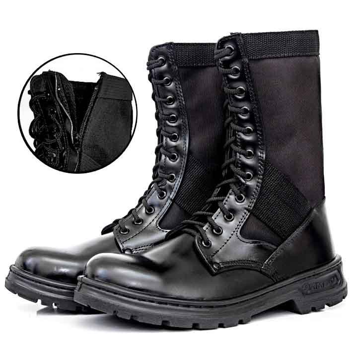 Bota Tática Militar Atalaia Extra Leve C/ Zipper - Preto