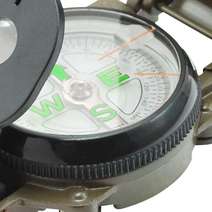 Bússola Alumínio - Modelo Militar - Guepardo