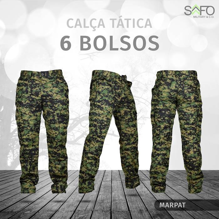 Calça Tática Cargo RipStop 6 Bolsos SAFO - Marpat Cerrado