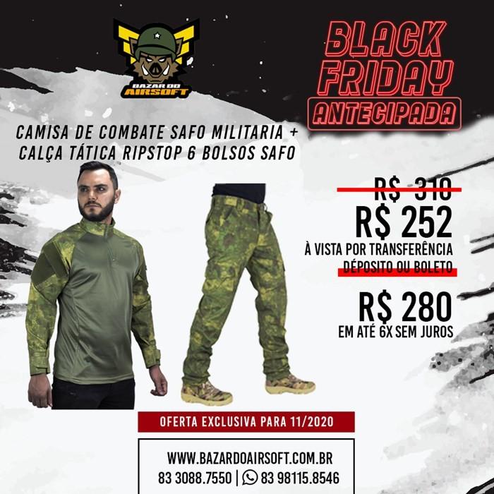 Camisa de Combate + Calça Tática - SAFO - ATACS FG