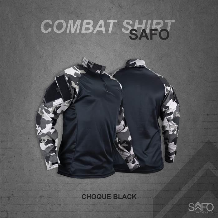 Camisa de Combate + Calça Tática - SAFO - Choque Black