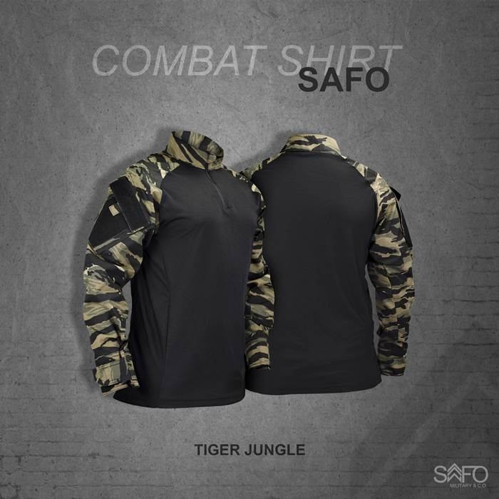 Camisa de Combate + Calça Tática - SAFO - Tiger Jungle