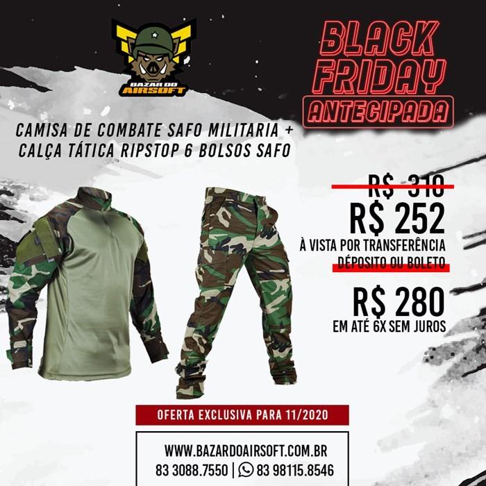 Camisa de Combate + Calça Tática - SAFO - Woodland