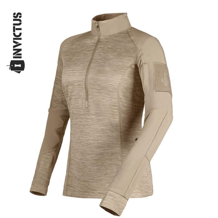Camisa de Combate Feminina Courage - Caqui Mojave