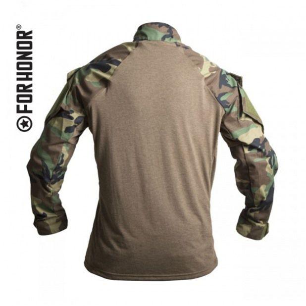 Camisa de Combate - FORHONOR - Woodland