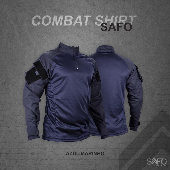 Camisa de Combate Safo Militaria - Azul Noturno