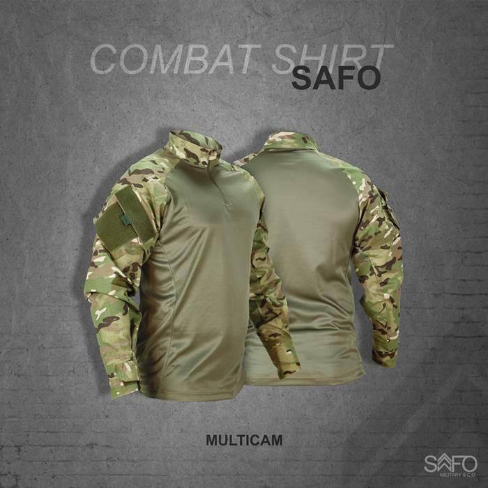 Camisa de Combate Safo Militaria - Multicam