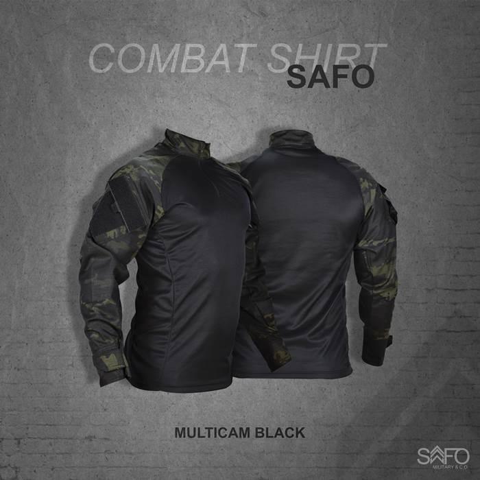 Camisa de Combate Safo Militaria - Multicam Black