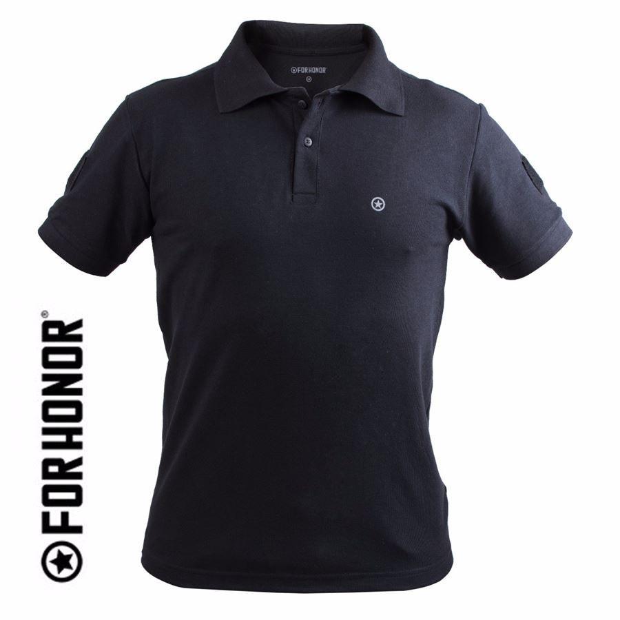 Camisa Polo com Velcro ID FORHONOR - Black