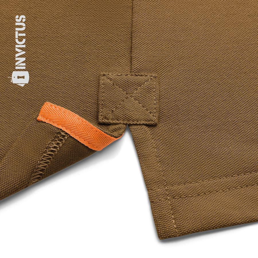Camisa Polo Control Invictus - Marrom Apache