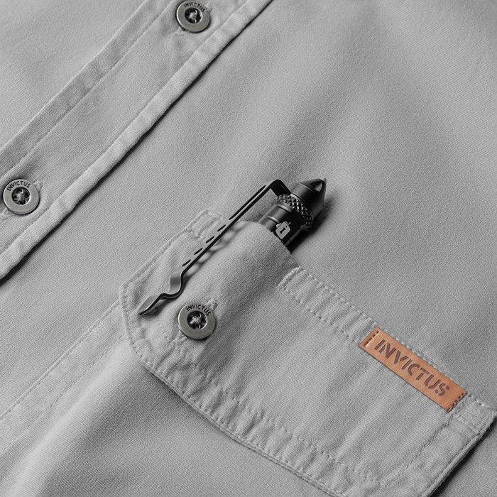Camiseta de Sarja Endurance Invictus - Cinza