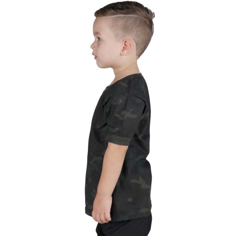 Camiseta Infantil Soldier Kids Bélica - Multicam Black