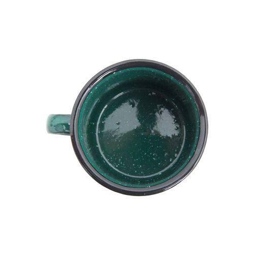 Caneca de Alumínio Esmaltada Guepardo Verde - 240ml