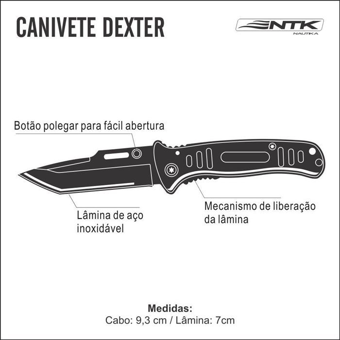 Canivete DEXTER NTK - Camuflado