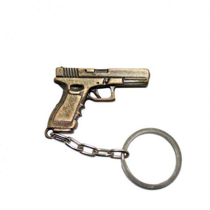 Chaveiro Pistola Glock - Ouro Velho
