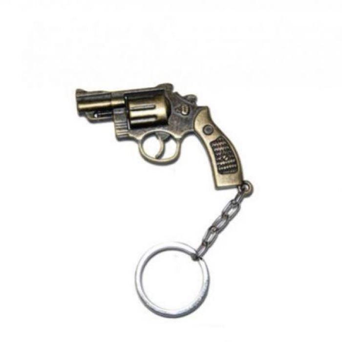 Chaveiro Revolver 38 - Ouro Velho