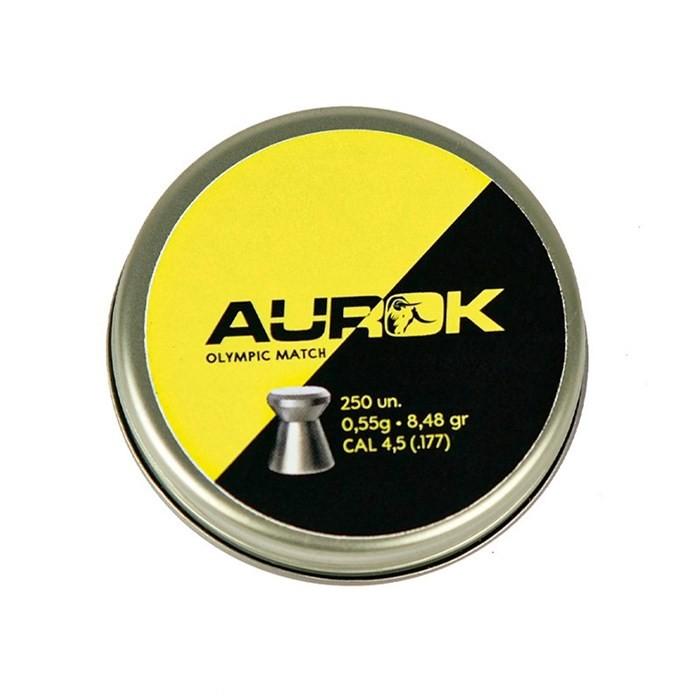 Chumbinho Aurok Olympic Match 4.5mm - 250 Unidades