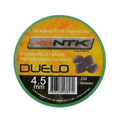 Chumbinho NTK DUELO 4,5mm - 250 Unidades