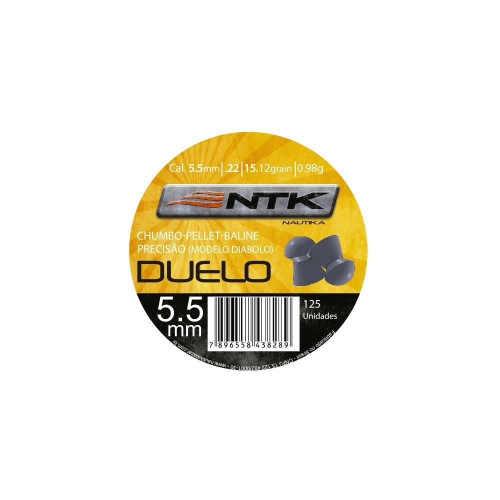 Chumbinho NTK DUELO 5,5MM - 125 Unidades