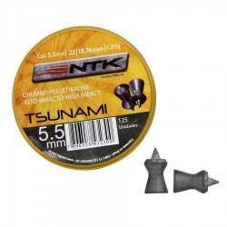 Chumbinho NTK TSUNAMI 5,5MM - 125 Unidades