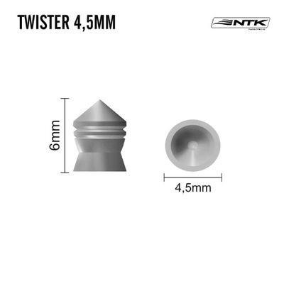 Chumbinho NTK TWISTER 4,5MM - 250 Unidades
