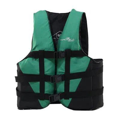 Colete Salva Vidas Coast 90 kg NTK - Verde e Preto