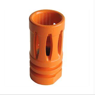 Flash Hider Para Airsoft Em Metal - Rosca Esquerda - Laranja
