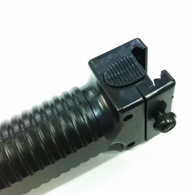 Front Grip Bipé Vertical em polímero - Trilho 20mm
