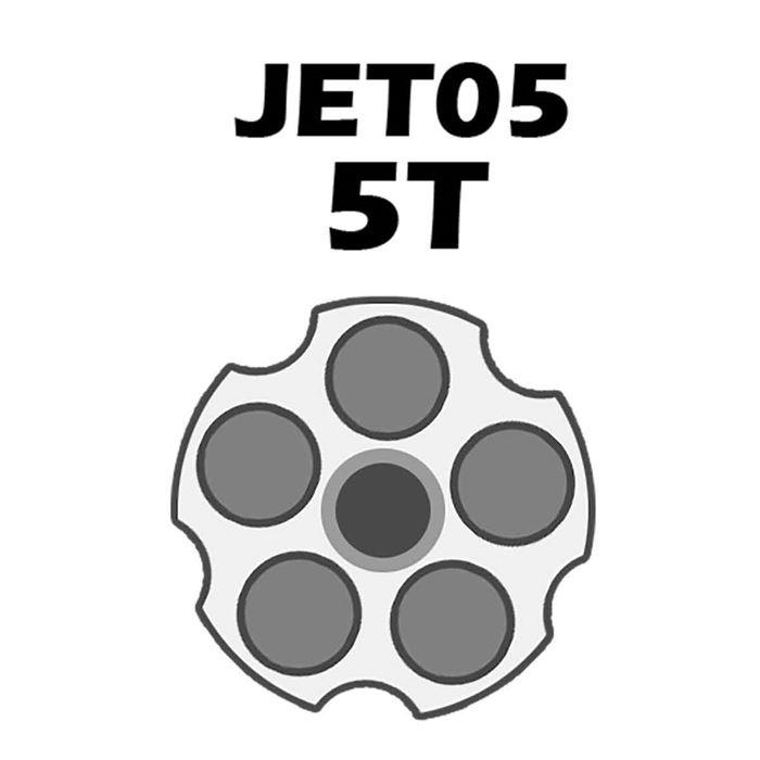 Jet Loader Shotgun Para Revolver Cal.38/357 - 5 Tiros - Preto