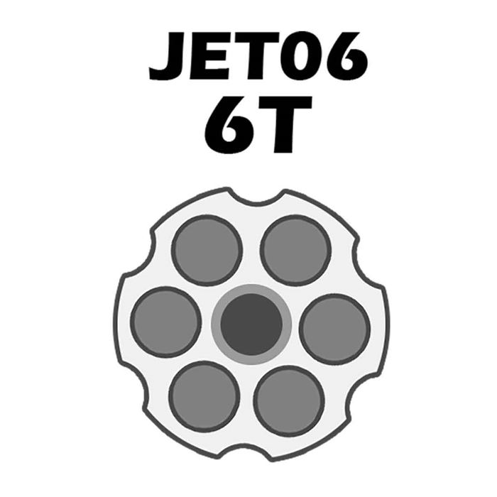 Jet Loader Shotgun Para Revolver Cal.38/357 - 6 Tiros - Preto
