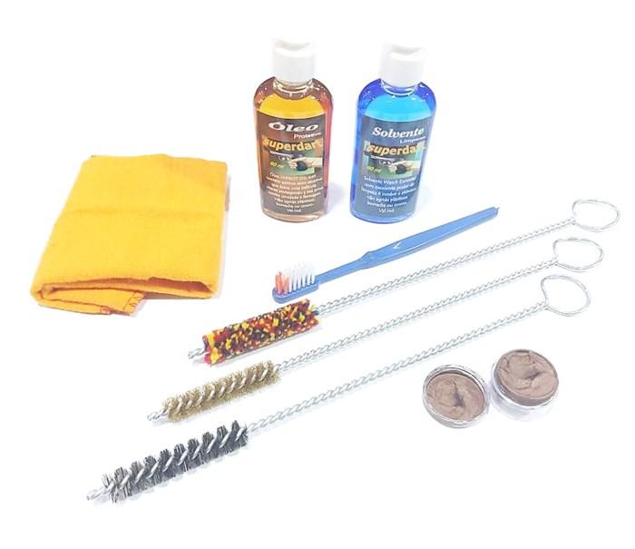 Kit de Limpeza para Armas Curtas Calibre .45 ACP - Superdart