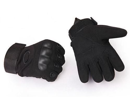 Luva Tática com Proteção - Dedo Completo - Preto