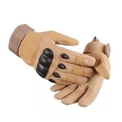 Luva Tática com Proteção - Dedo Completo - TAN