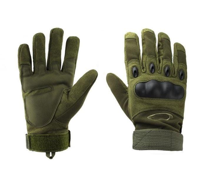 Luva Tática com Proteção - Dedo Completo - Verde