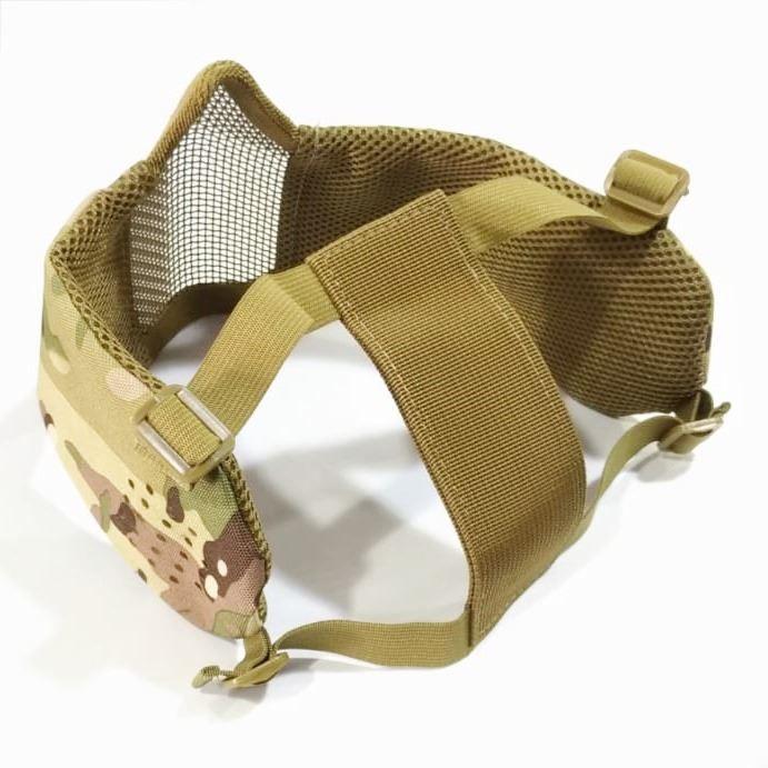 Mascara de Tela Meia Face com Proteção de Orelha - Multicam