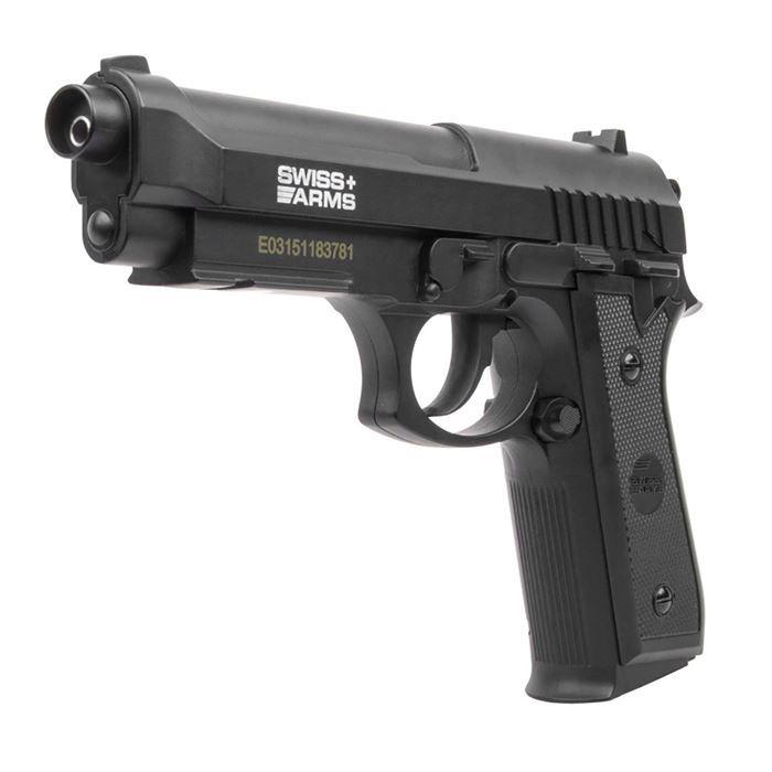 Pistola de Pressão a Gás CO2 SA P92 4.5mm - Swiss Arms