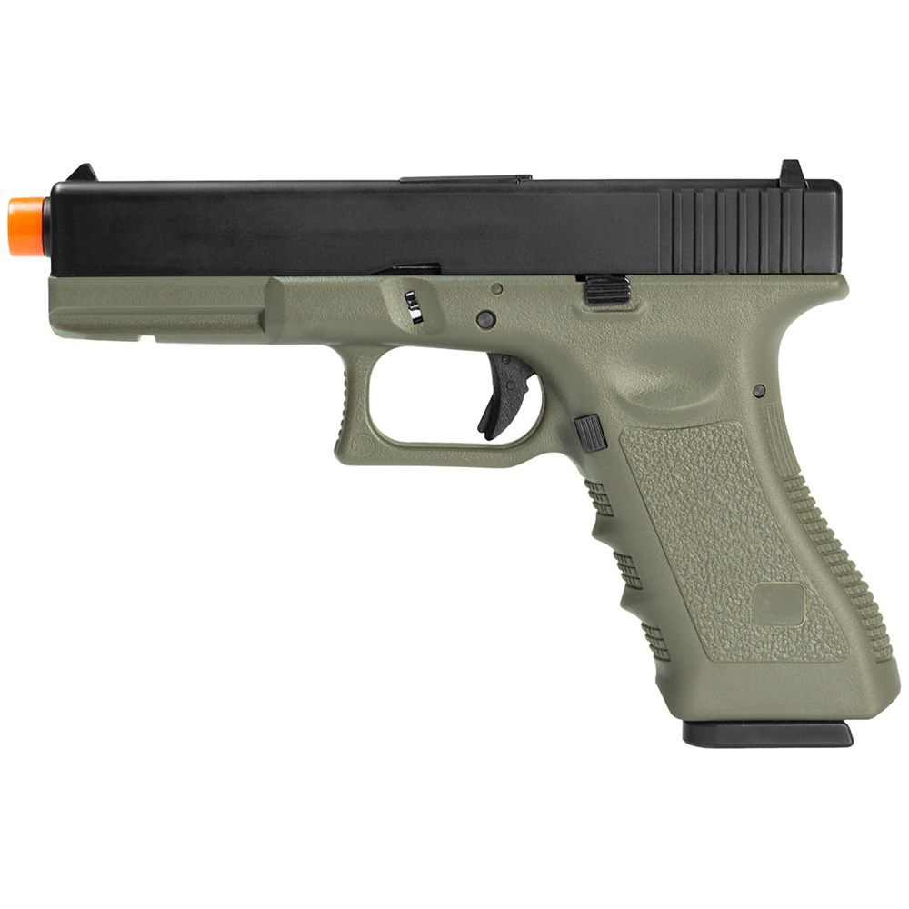 Pistola GBB Airsoft Green Gás Glock R17 Blowback 6mm OD - Army