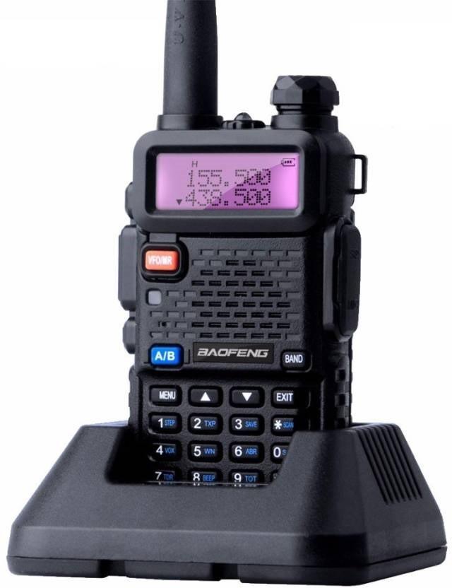 Rádio Comunicador HT Baofeng Dual Band UV-5R + PTT Laringofone