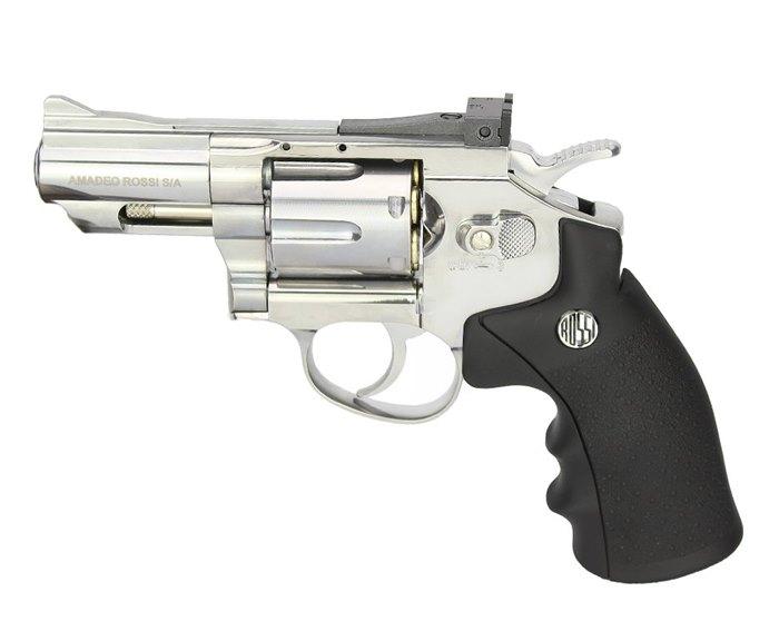 Revólver de Pressão a Gás CO2 708S 2 Polegadas Niquelado 4.5mm - Wingun