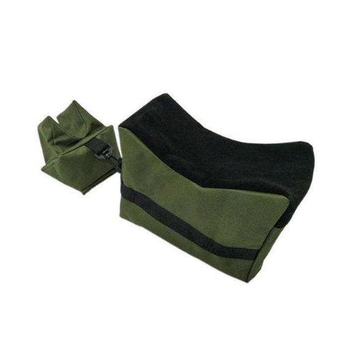 Saco de Apoio para Tiro (Dianteiro + Traseiro) - Verde e Preto