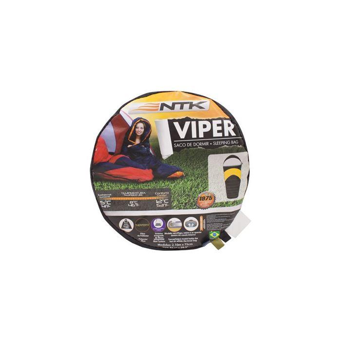 Saco de Dormir Viper 5ºC a 12ºC NTK - Preto e Laranja