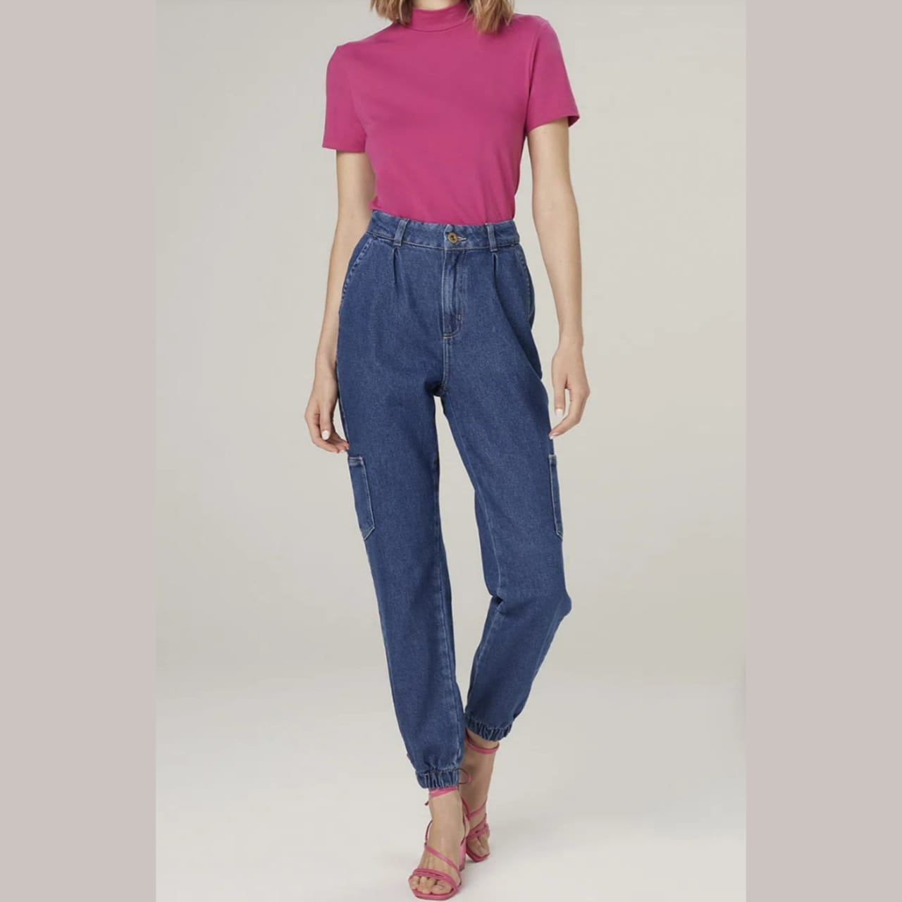 Calca Jeans  Elastico Barra Dzarm