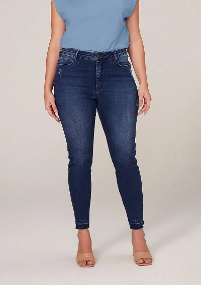 Calca Skinny Jeans Detalhe Barra Dzarm Zu6j